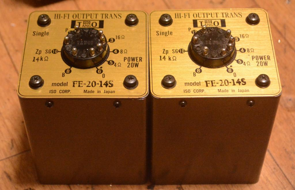 Pair of HIRATA Tango FE-20-14S OPT transformer using for 801, VT-62