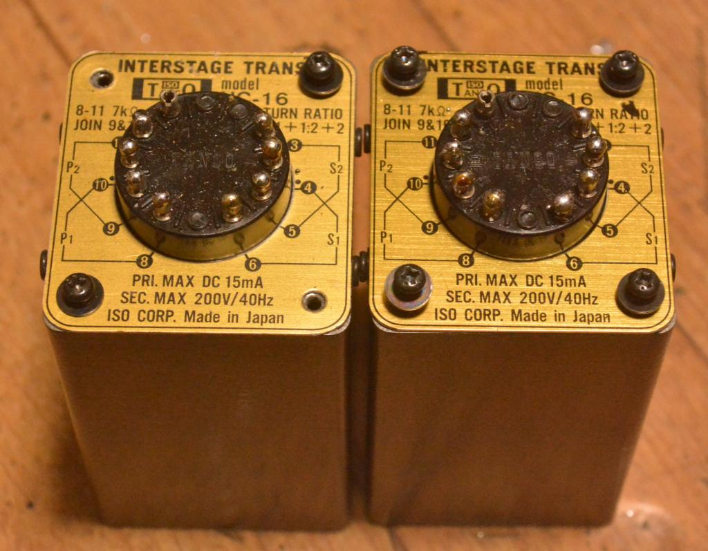 Pair of TANGO interstage transformer NC-16 * Max DC 15mA