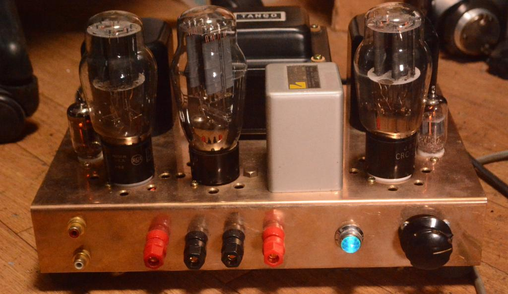 Special order made 2A3/45 SE stereo tube amplifier with gunmetal chassis