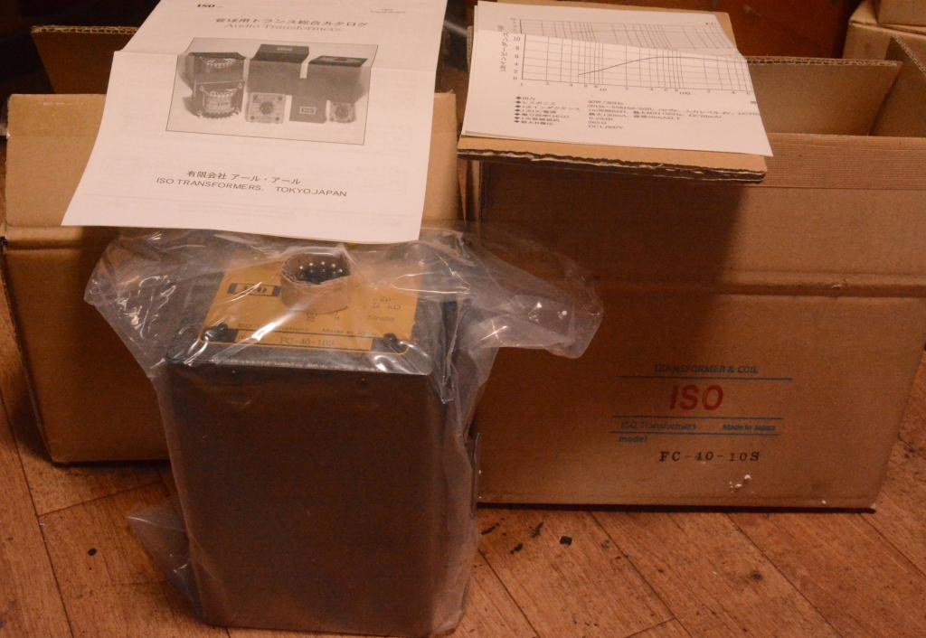 New old stock Pair ISO Tango transformer special order made FC-40-10S quite same as X-10S