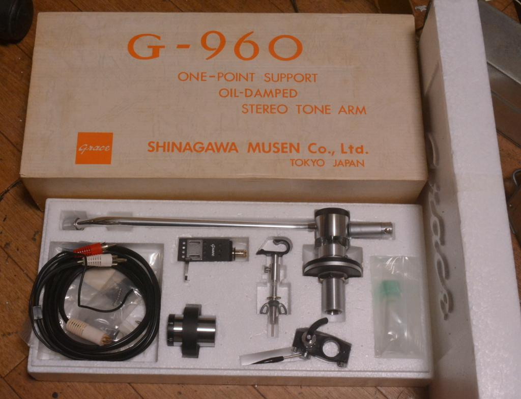 NOS Grace G-960 one pivot oild damped tonearm with full set, all parts * 12 inches tonearm