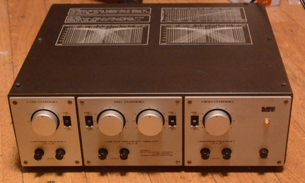 Luxman A-2003 tube channel divider network for 3 ways speaker system