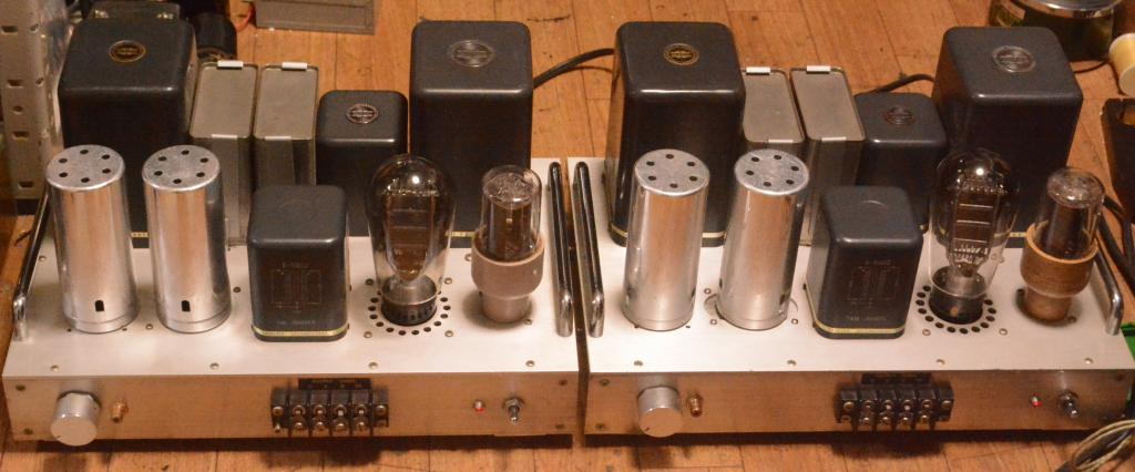 Western Electric 91B type PX25 SE stereo tube amplifier class A1 with All Tamura transformer