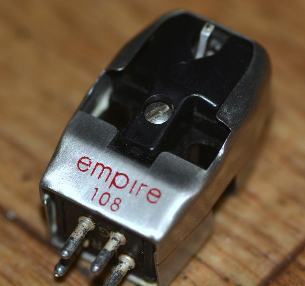 60s year Empire 108 cartridge using for both mono and stereo with new stylus