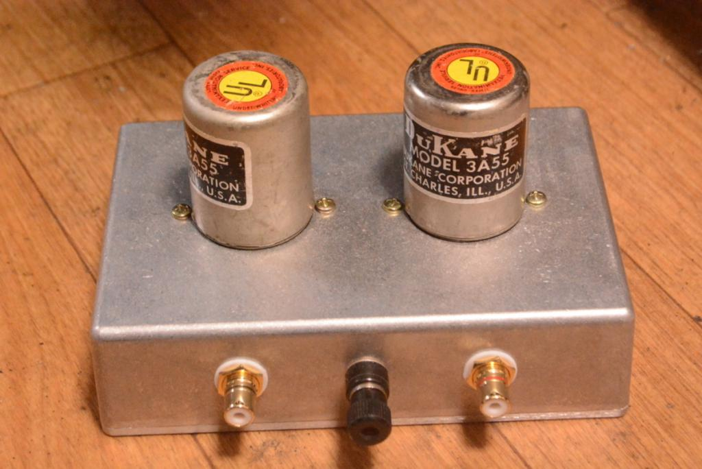 Dukane 3A55 input, step up transformer for analog fan
