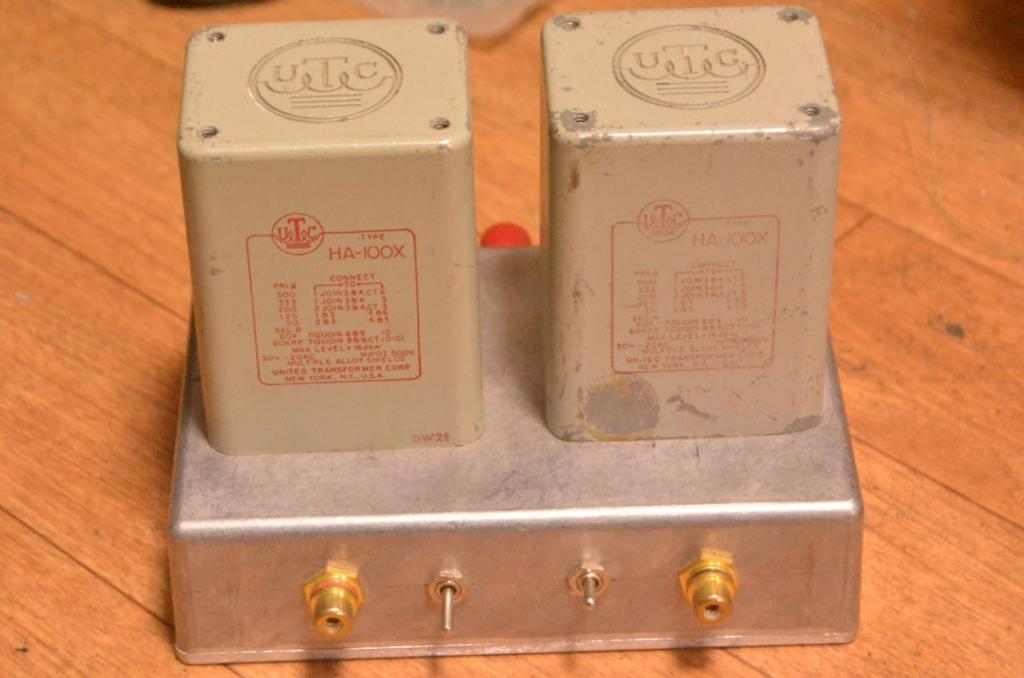Early UTC HA-100X step up, input transformer for MC cartridge * Hyper permalloy core !