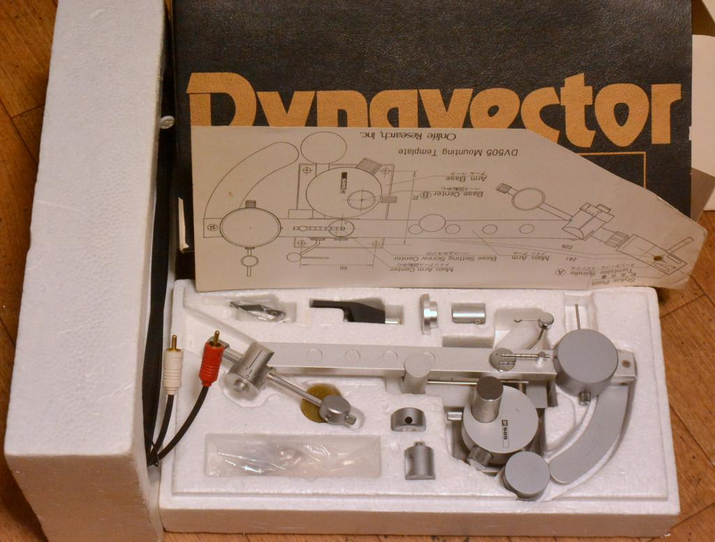 VG++ condition with box Dynavector DV-505 tonearm manufactured in 70s year