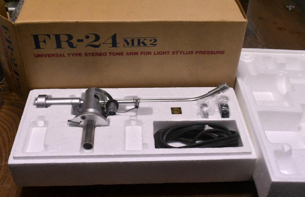 Used Fidelity Research FR-24S tonearm with original box, manual, cable