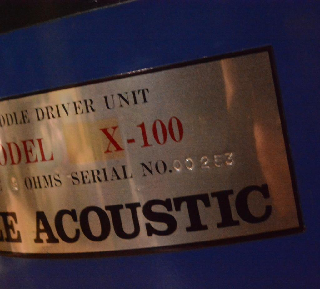 Pair ALE Accoustic X-100 for mid-low range * checked by ALE Acoustic 60-1000Hz * matching pair