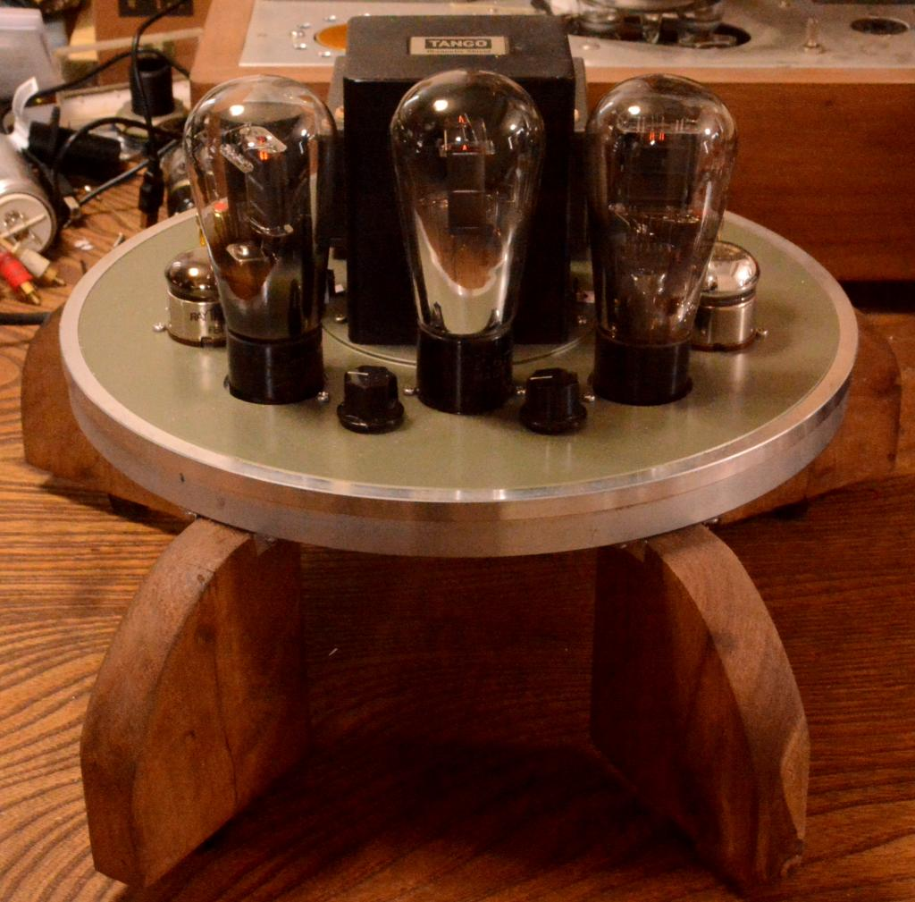 46 SE tube amplifier with Sachsenwerk transformer driving tube 717A