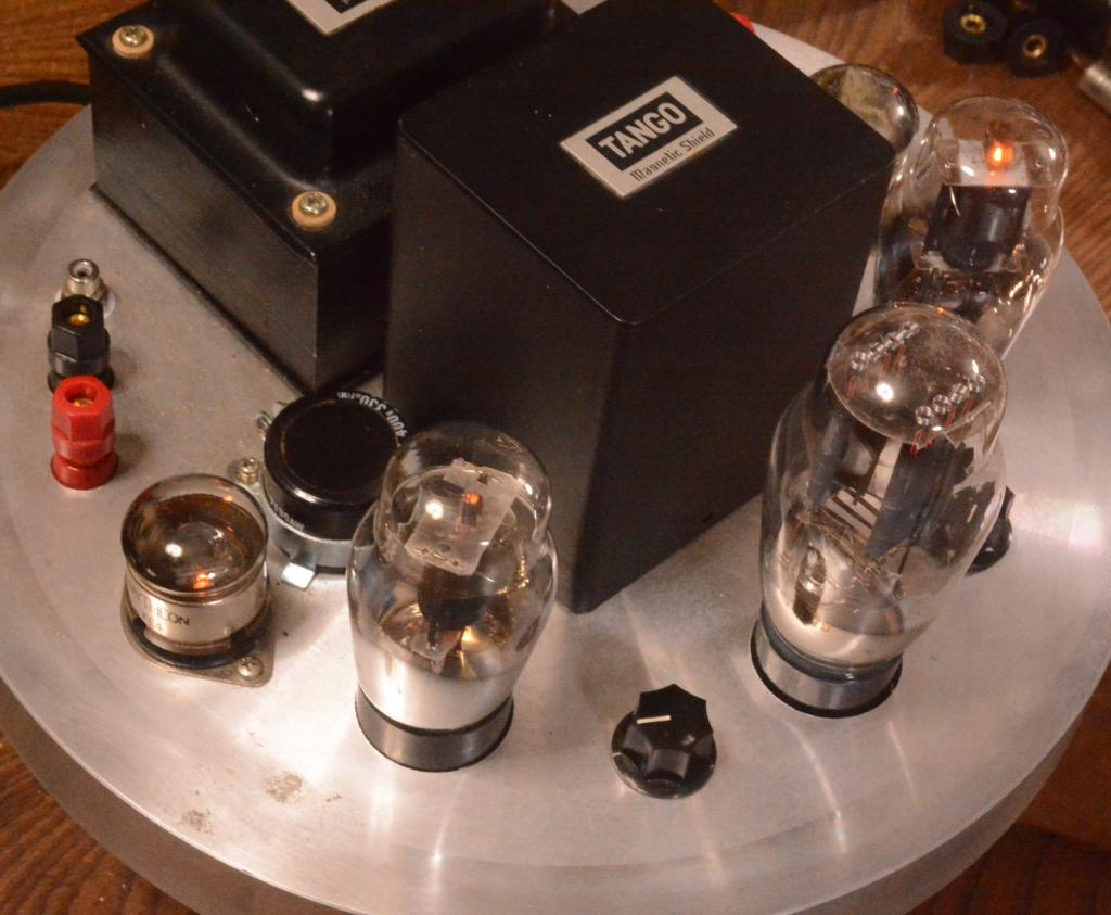 42 SE tube amplifier with Sachsenwerk transformer driving tube 717A