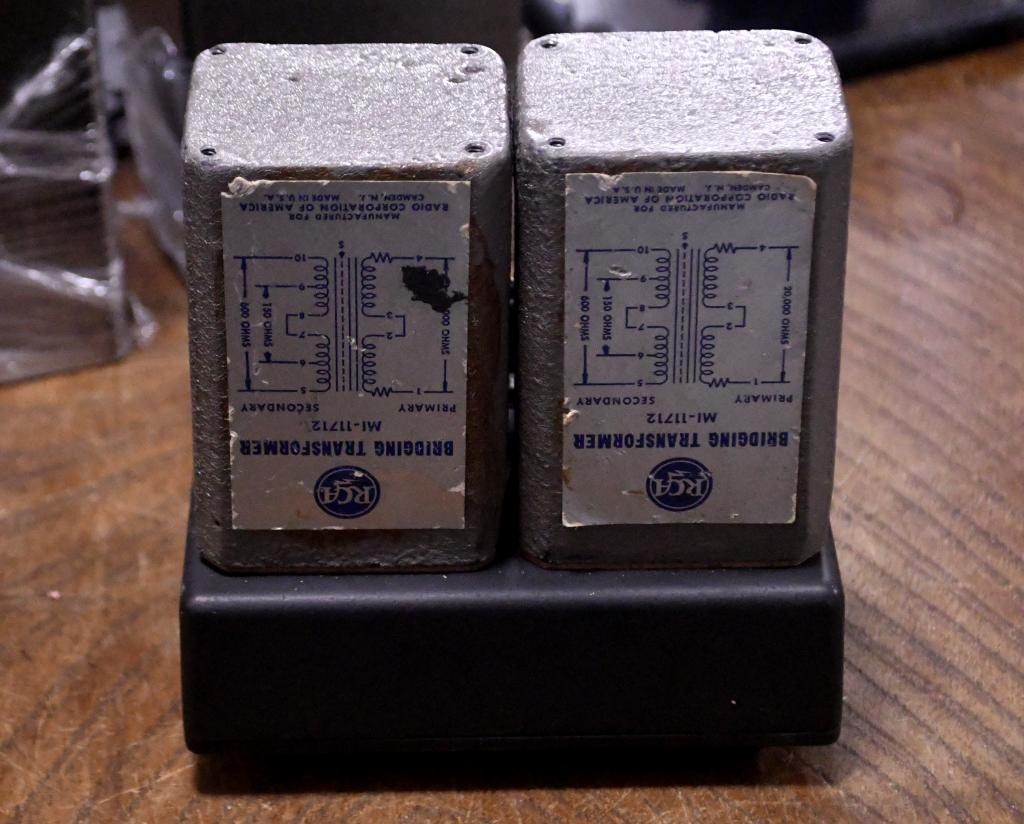 Early 50s year silver RCA MI-11712 step up transformer or CD line transformer