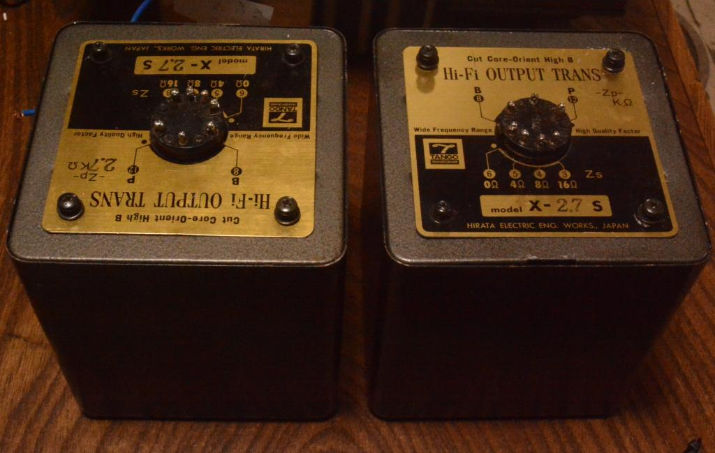 Used Pair Hirata Tango transformer X-2.7S for SE tube amp 300B, 2A3