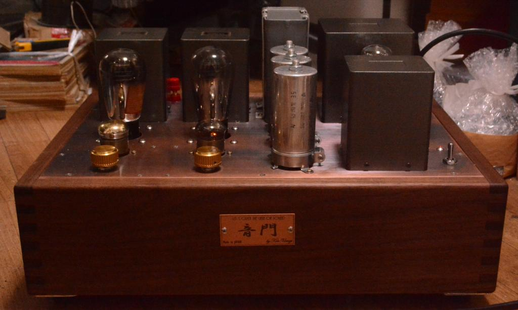 45 SE tube amplifier amp for mania with Walnut wooden case, pure silver wire, driving tube 717A