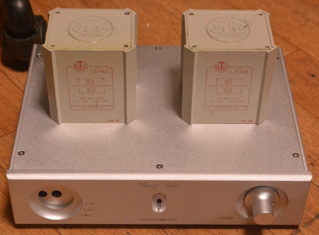 UTC LS-41 Line transformer with RCA and XLR input