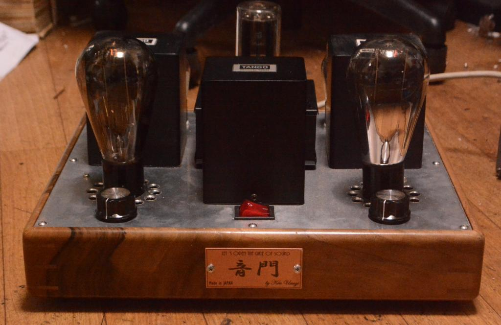 50 tube SE stereo amplifier pure class A1 with walnut wood case * driver tube 76