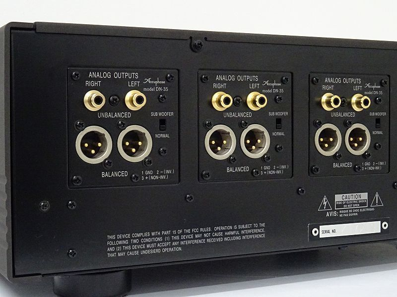 Accuphase DF-35 channel divider network for 2,3,4 ways with original box