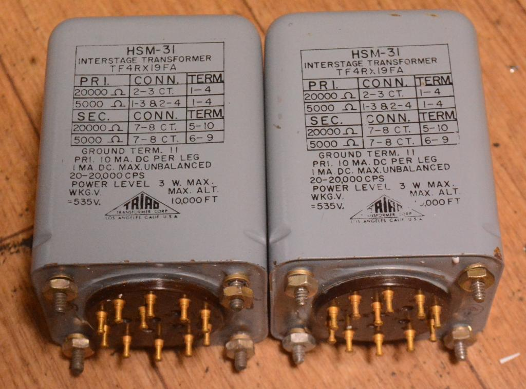 Early TRIAD HSM-31 interstage transformer for tube amplifier