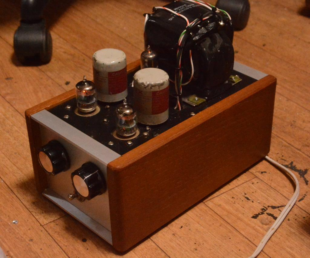 WE396A preamp tube amplifier with Ampex output transformer and KENYON power trans