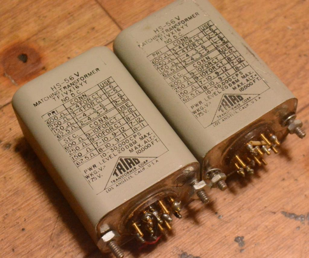 Early TRIAD HS-56V line, output transformer for tube amplifier
