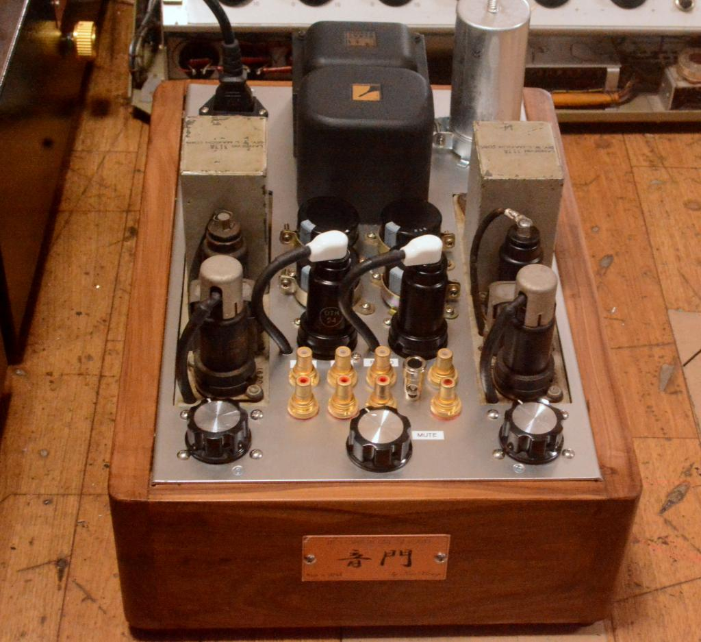50s  year Langevin 116B preamplifier matching pair with phono block * ALL 6J7 tubes