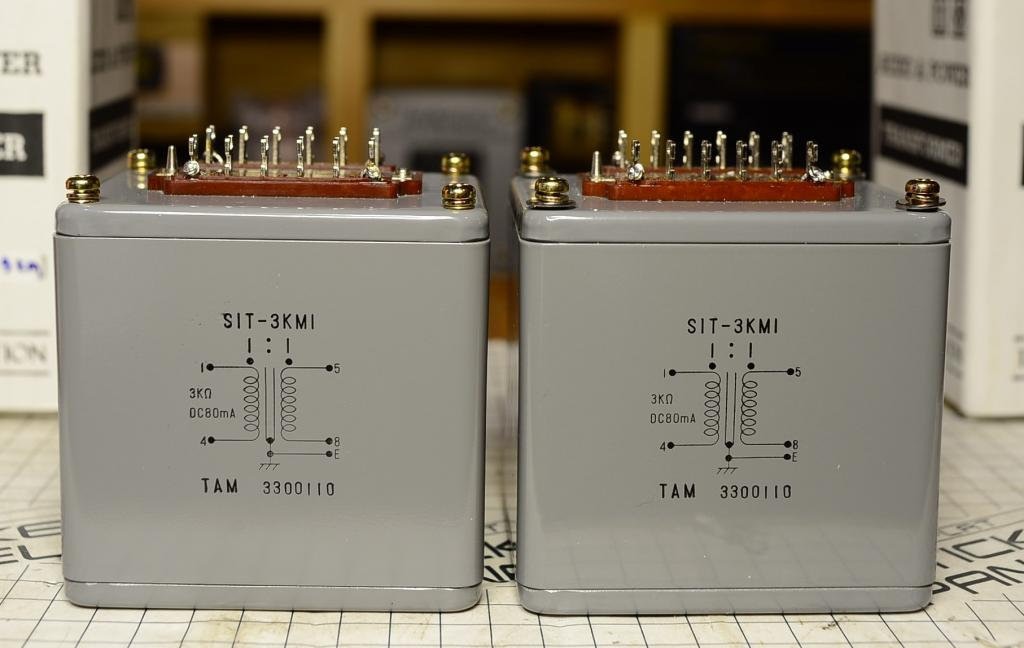 NOS Pair TAMURA SIT-3KM interstage transformer special order by SAKUMA * 3K/80mA