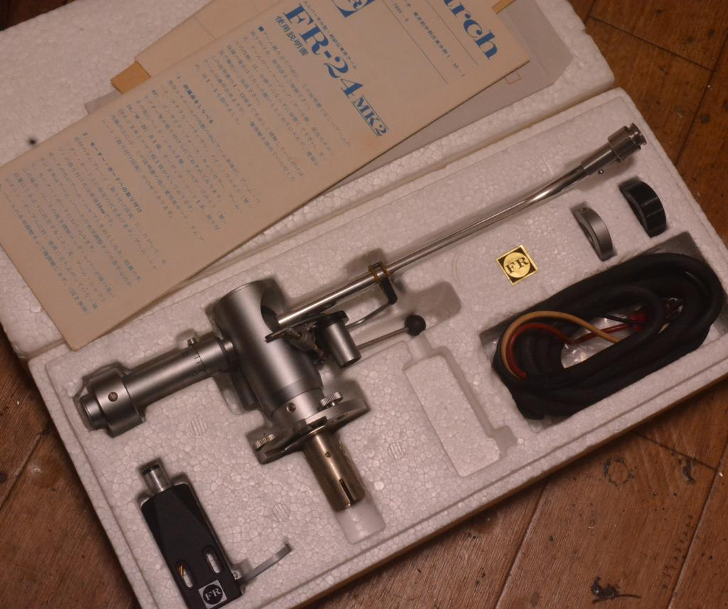 VG+++  Fidelity Research FR-24Mk2 tonearm with original box, template, headshell