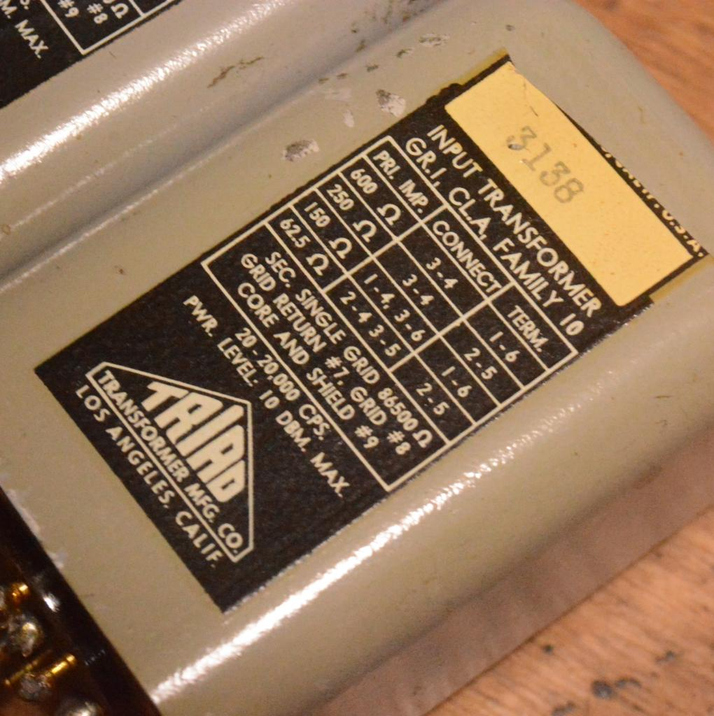 TRIAD HS-1 Input, MC step up transformer * special order made from AMPEX