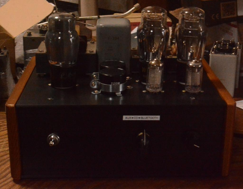 71A SE tube amplifier using as preamp and power amp with 1W output * bluetooth receiver