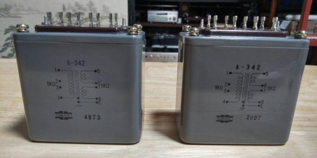 NEW Pair of Tamura A-342 interstage transformer special order for Sakuma amp
