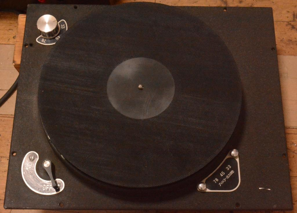 Early 50s year DENON Columbia turntable 50Hz/100V * Ex RARE
