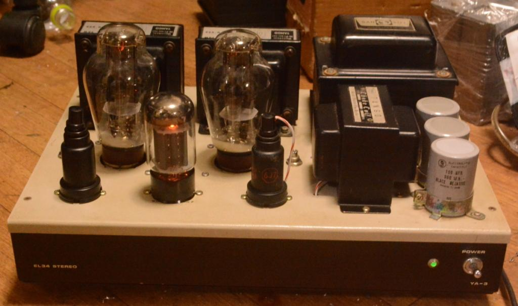 300B SE stereo tube amplifier class A1 with ALL Hirata TANGO transformer