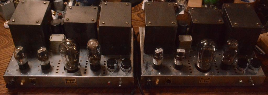 PX-25 mono block x 2 tube amplifier with ELTUS ( Western Electric) transformers, cooper chassis