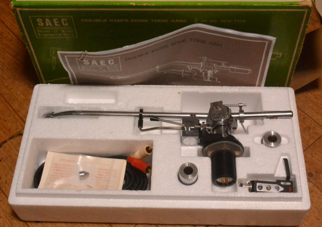 SAEC WE-308L long type tonearm double knife edge tonearm full set with original box