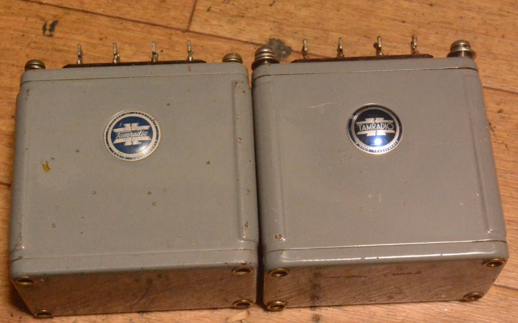 Used Pair of Tamura TN-5 input, output transformer for SE, PP tube amp * blue logo
