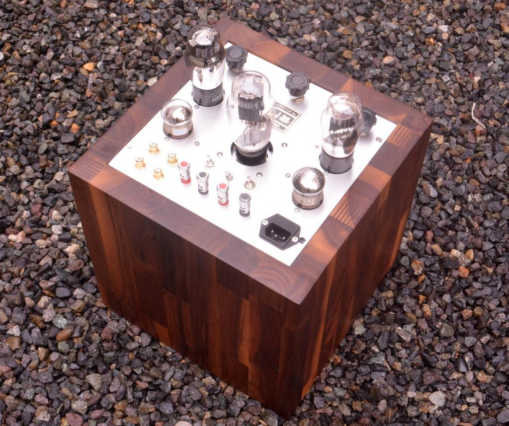 """The Tesseract"" 45 tube preamp, using for Bluetooth connection 2W output"