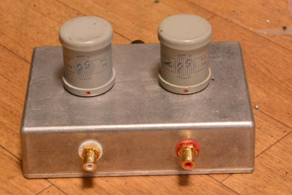 Early Jorgen Schou JS No 75 step up transformer for SPU, Koetsu cartridges
