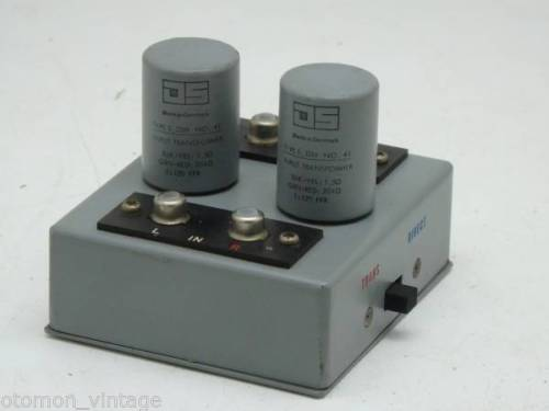 Jorgen Schou JS no.41 MC step up transformer for SPU, Koetsu, FR cartridge