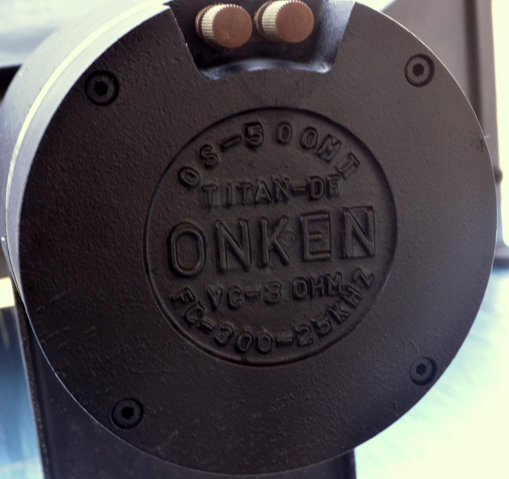The Legend 60s' Early Onken wooden horn + unit OM-500 * titan diaphragm *