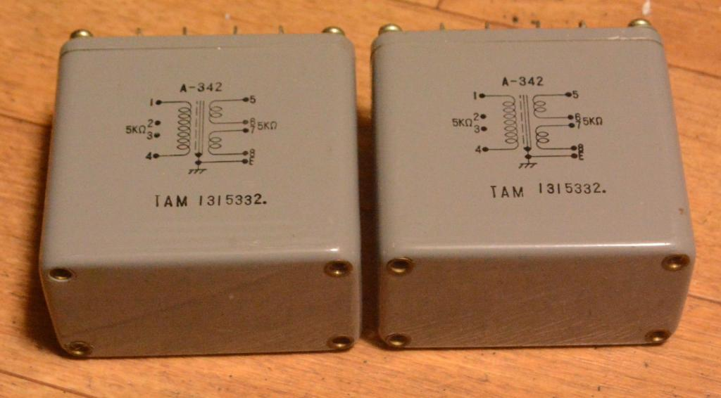 Used Pair of Tamura A-342 interstage transformer special order for Sakuma amp
