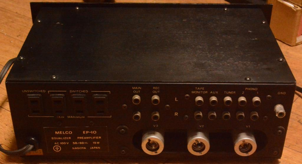 MELCO EP-10 tube preamplifier with MM phono stage