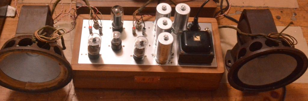 30s year RCA field coil speaker with power supply using 6L6 and 6SN7
