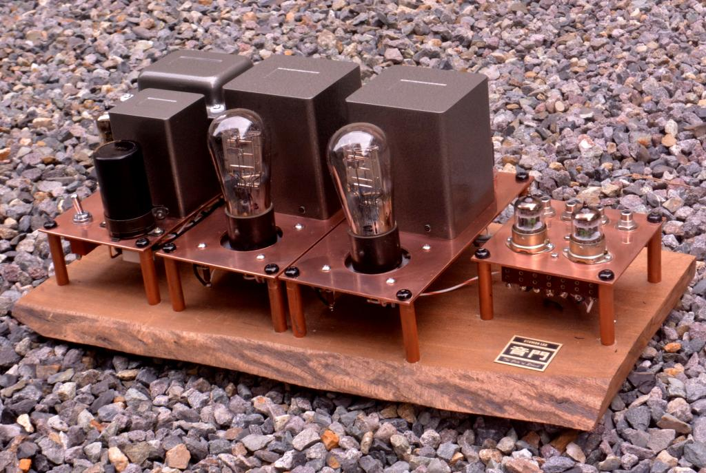 71A SE tube amplifier with wooden board, output 1W