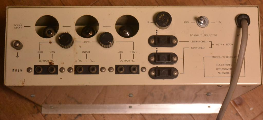 Early Uesugi U-Bros 2  tube channel divider network for 2 ways 500Hz #017