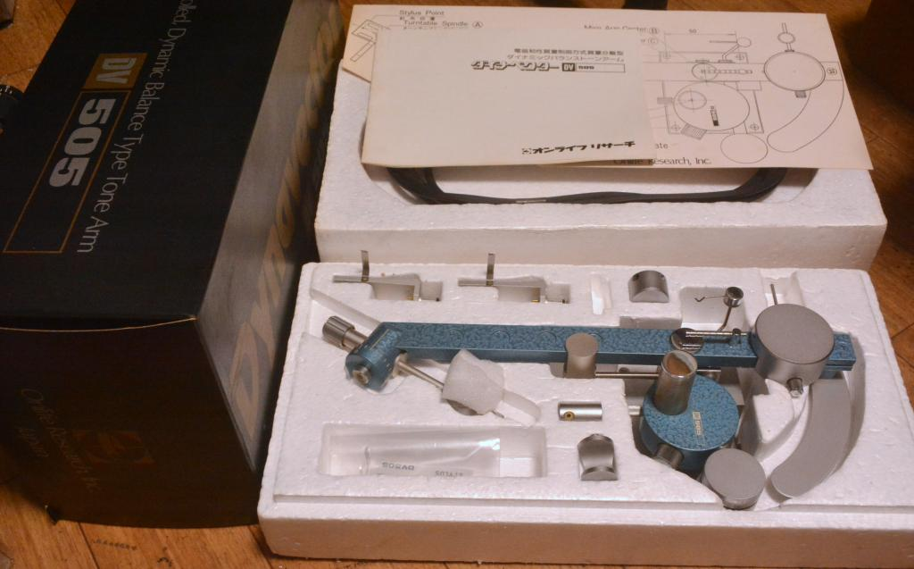 Mint condition with box Dynavector DV-505 tonearm manufactured in 70s year