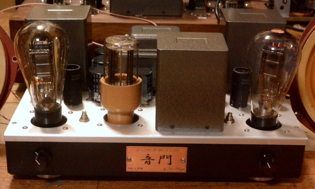 50/VT62/10Y tube SE stereo amplifier pure class A1, direct AC heat filament