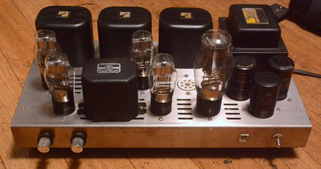 Morikawa 6B4G(2A3) stereo tube amplifier with all Luxman transformer