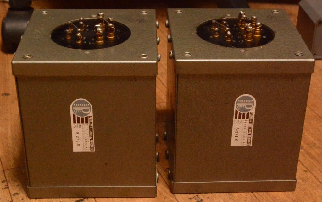 Extra RARE pair Peerless S-271-S output transformer for 300B, PX-25, PX4 ...