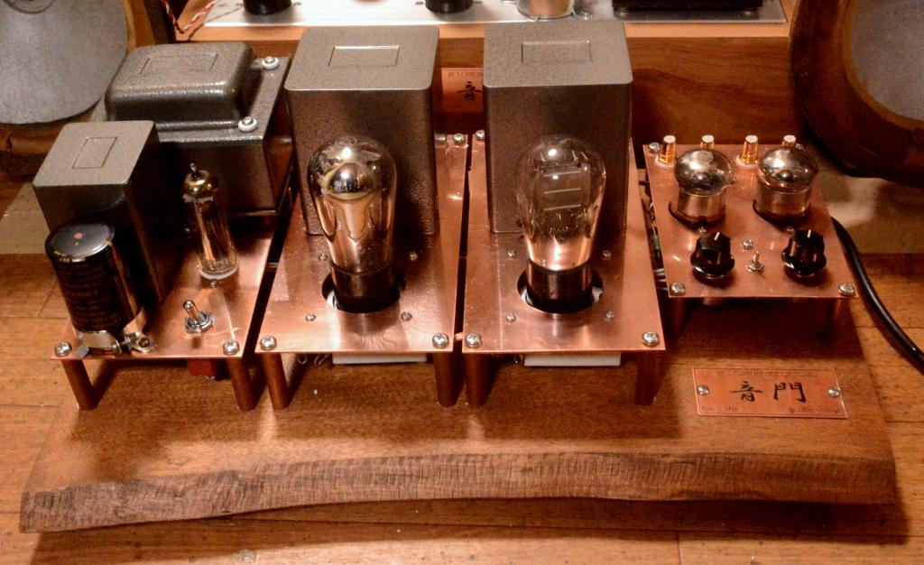717A-71A/10Y/VT-25/45/2A3 tube amplifier with wooden board