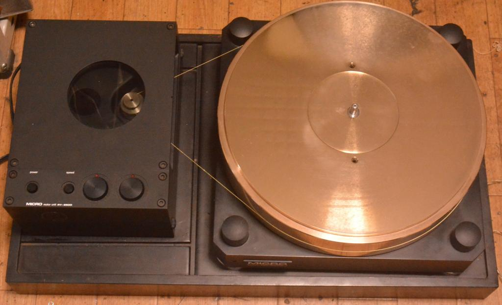 Micro seiki RX-5000, RY-5500 turntable with gun metal flatter use for 4 tonearms